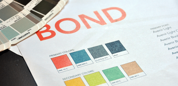 BOND branding: color pallette
