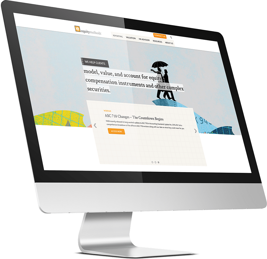 equity methods website design and development