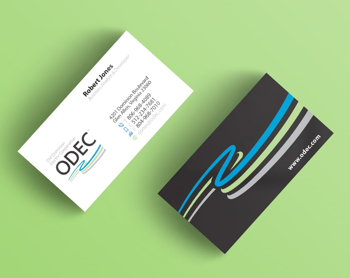 ODEC business cards