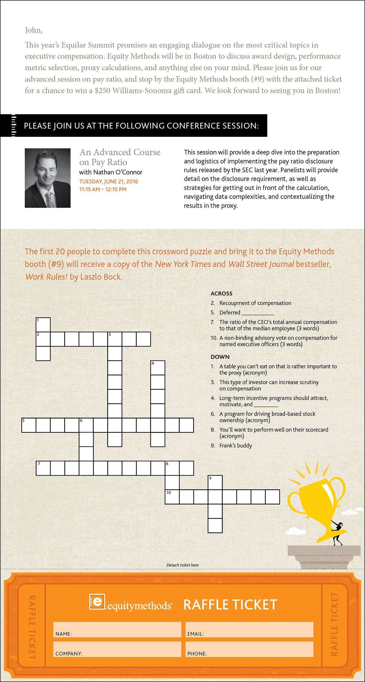 equity methods crossword mailer 2