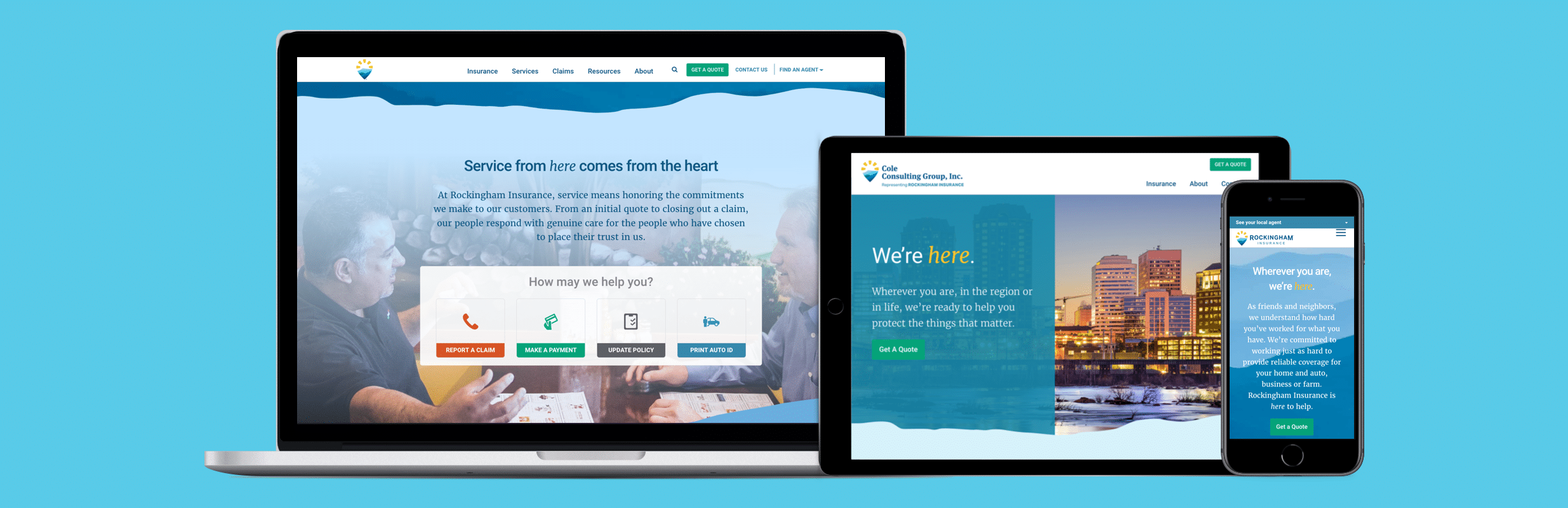 rockingham insurance website responsive