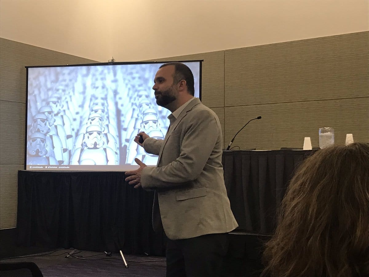 Tim Speaking at ABX 2018 in Boston